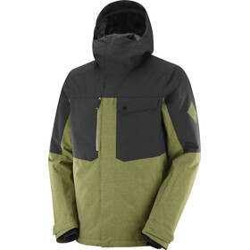 Salomon Powderstash Chaqueta Hombre, martini olive/black/wht
